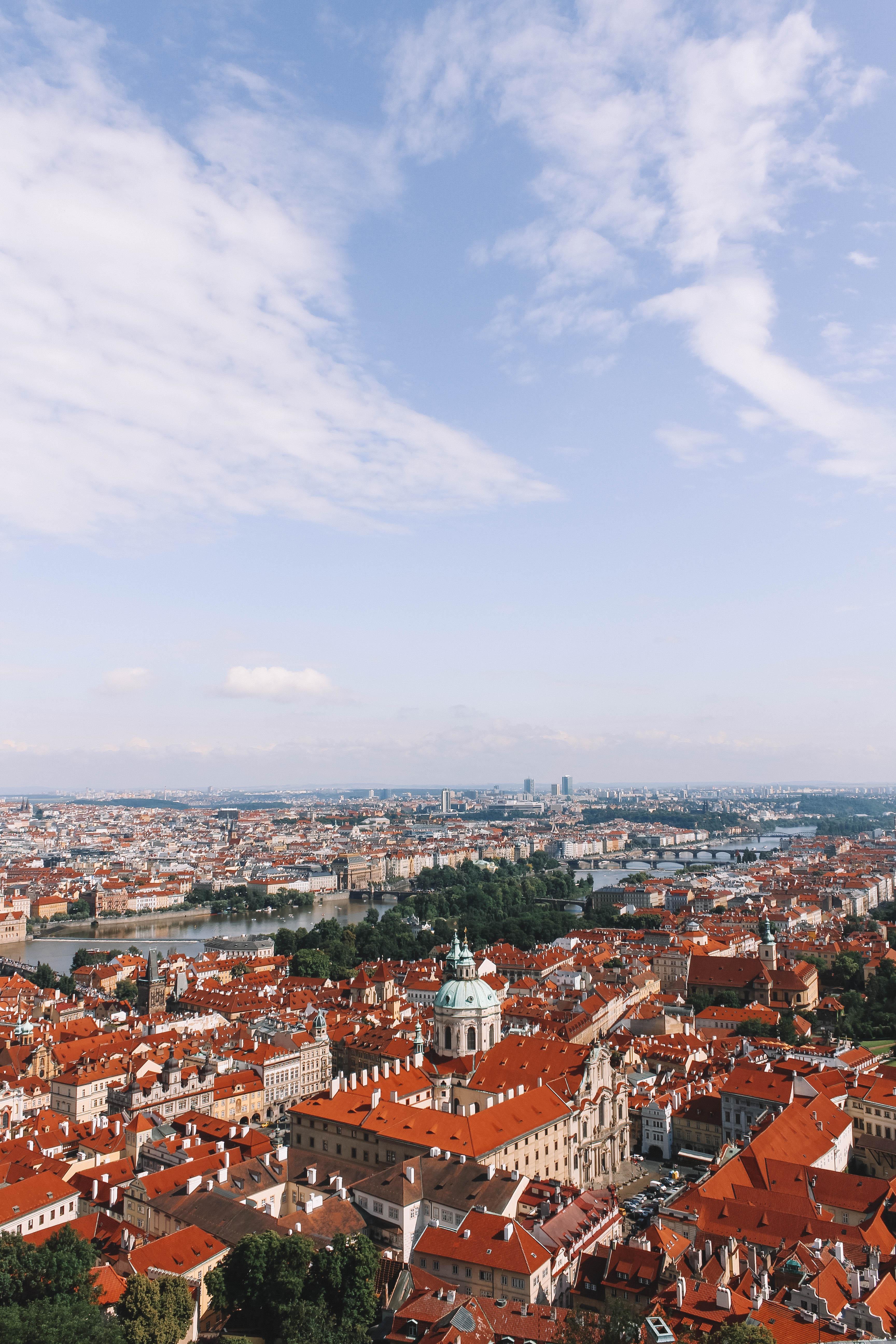 Prague viewed from the Katedrála Sv. Vita